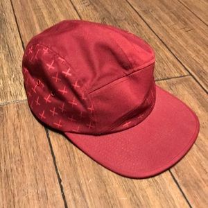 Volcom  Faded Cross Castro style snap buckle hat